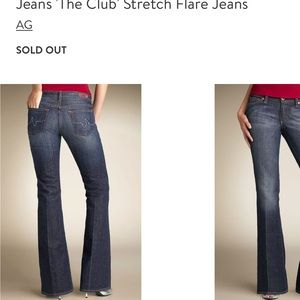 "AG stretch flare ""the club"" jeans size 32R"